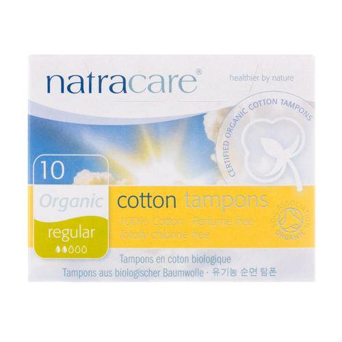 Absorvente Interno Orgânico Cotton Tampons Regular com 10 Unidades - Natracare