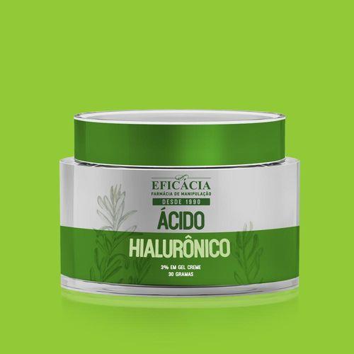 Ácido Hialurônico a 3% em Gel - Creme 30 G