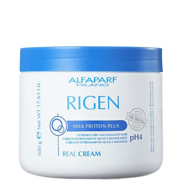Alfaparf Rigen Milk Protein Plus Máscara Real Cream 500ml