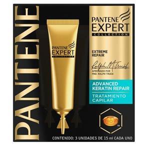 Ampola de Tratamento Pantene Expert Keratin Repair com 3 Unidades 15 Ml Cada