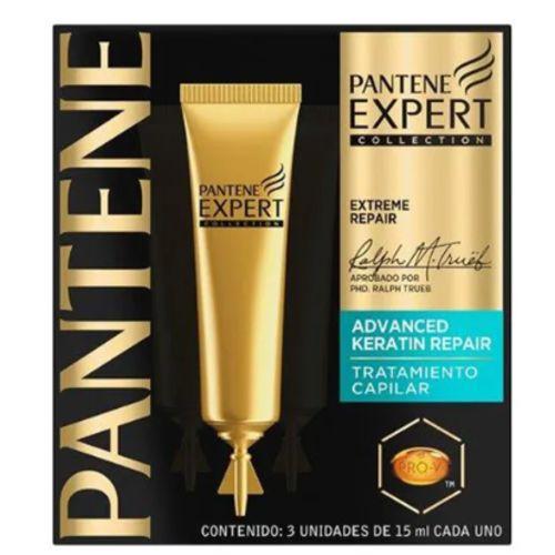 Ampola de Tratamento Pantene Expert Keratin Repair com 3 Unidades 15ml Cada
