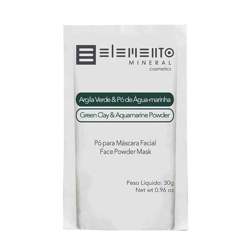 Argila Verde com Pó de Água-Marinha 30g - Elemento Mineral