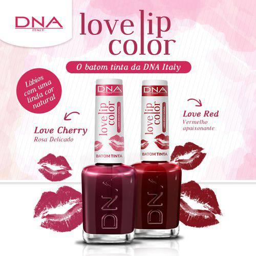 BATOM TINTA - LOVE LIP COLOR – KIT LOVE RED e LOVE CHERRY – DNA ITAL