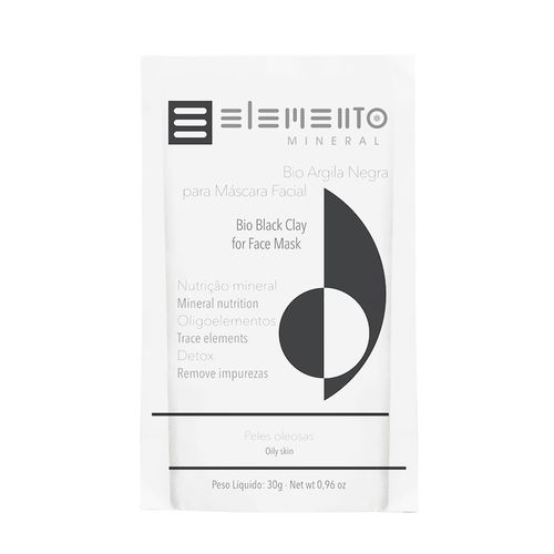 Bio Argila Negra Elemento Mineral 30g