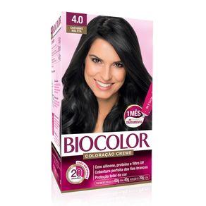 Biocolor Kit Coloração Creme 4.0 Castanho Malícia