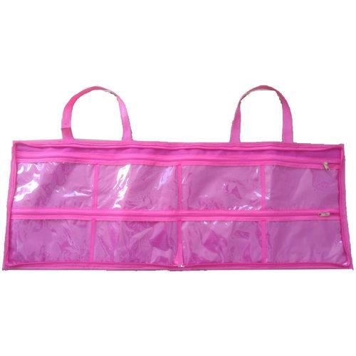 Bolsa Necessaire Organizadora de Esmaltes 120 Frascos Rosa
