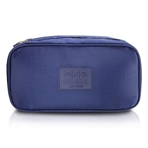 Bolsa Porta Lingerie Viagem Poliéster Azul - Jacki Design