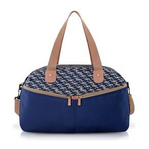 Bolsa Shopper Estampada Azul