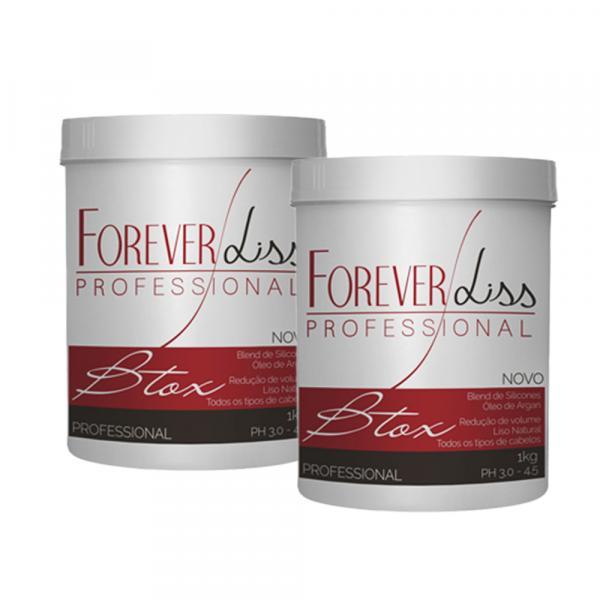 2 Bottox Capilar Argan Oil Forever Liss 1Kg