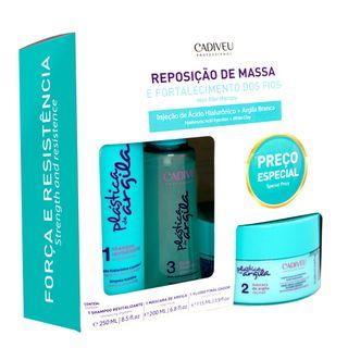 Cadiveu Plástica de Argila Reposição de Massa Kit - Shampoo + Máscara de Argila + Fluido Kit