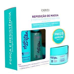 Cadiveu Plástica de Argila Reposição de Massa Kit - Shampoo + Máscara de Argila + Fluido - Kit