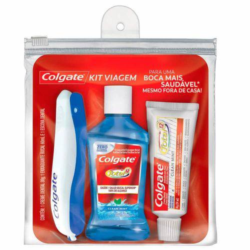 Colgate Kit Viagem Creme 30g + Enxaguante 60ml + Escova