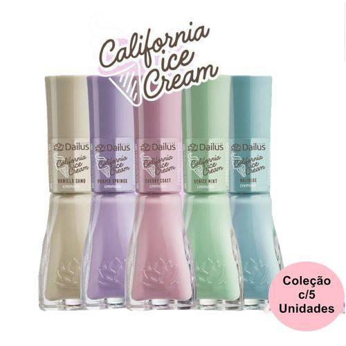 Dailus Kit Coleção C/ 5 Esmalte Cremoso Ice Cream 8ml