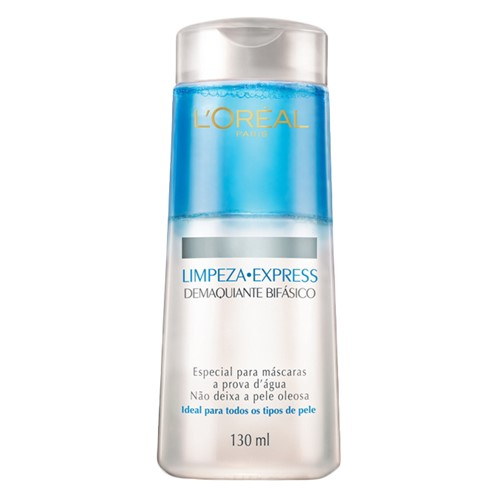 Demaquilante L'oréal Limpeza Express Facial Bifásico com 130ml