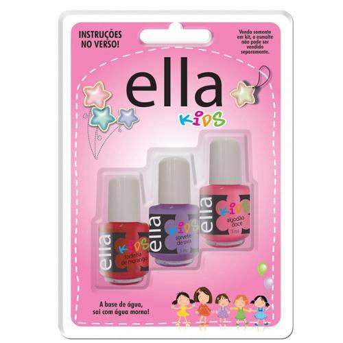 Ella Kids Esmalte Infantil (Kit 3 Cores)