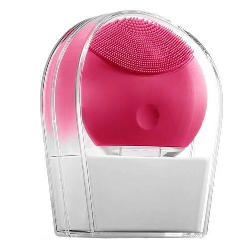 Escova de Limpeza e Massageadora Facial Lina Pink