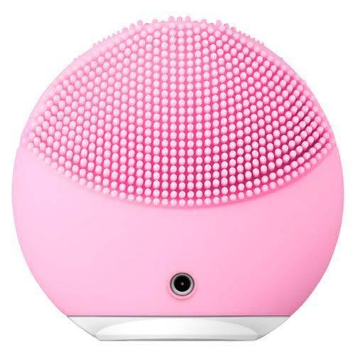 Esponja Massageadora para Limpeza Eletrica e Massageador Aparelho Escova de Limpeza Facial - Rosa