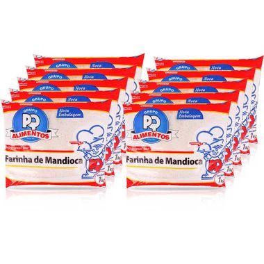 Farinha de Mandioca Crua PQ 1kg Fd. C/ 10 Un.