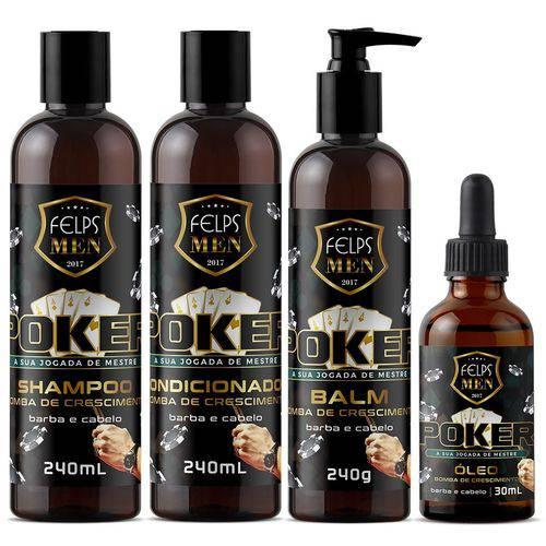 Felps Men Kit Poker Shampoo + Condicionador + Balm + Oleo