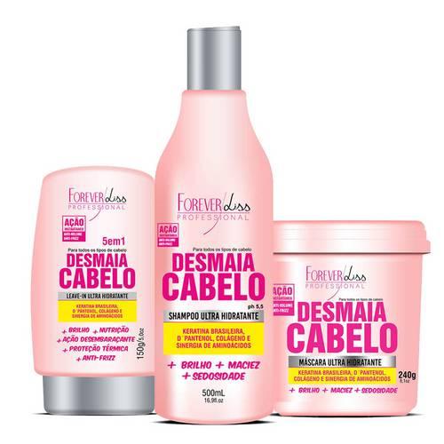 Forever Liss - Kit Desmaia Cabelo Shampoo, Leave In e Máscara