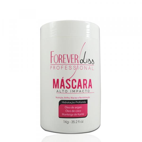 Forever Liss - Máscara de Hidratação Alto Impacto - 1Kg - Forever Liss Professional