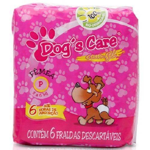 Fralda Dog's Care para Fêmeas Pequena -pacote de 6un