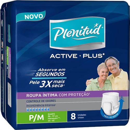 Fralda Geriátrica Plenitud C/8 Active Plus P/m