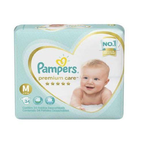 Fralda Pampers Premium Care M C/34