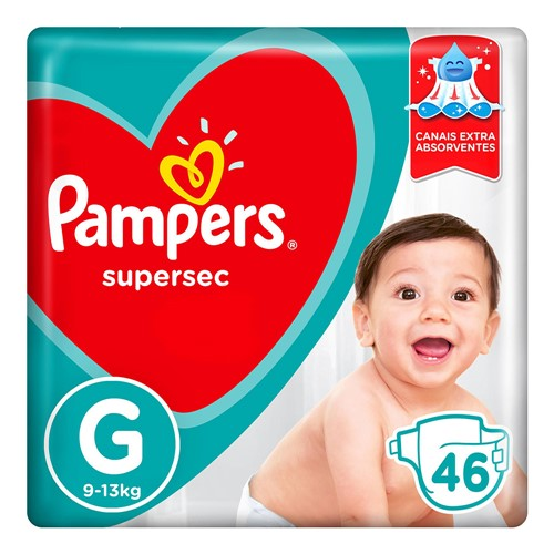Fralda Pampers Supersec P 34UN