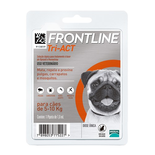 Frontline Tri-Act para Cães 5 a 10kg com 1 Pipeta de 1,0ml