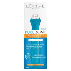 Gel Secativo L`Oréal Pure Zone Roll On 15ml