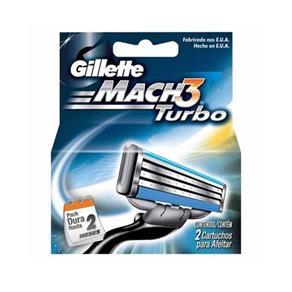 Gillette Mach3 Turbo Carga - 2 Unidades