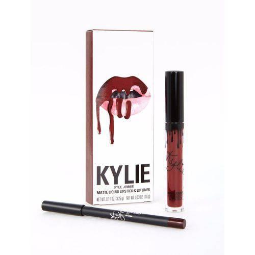 Kit Batom e Lápis Kylie Jenner Lipsticks Matte Leo