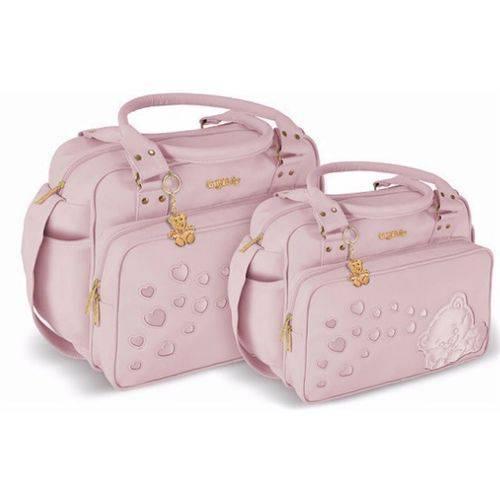 Kit Bolsa Maternidade Candy Rosa com Trocador