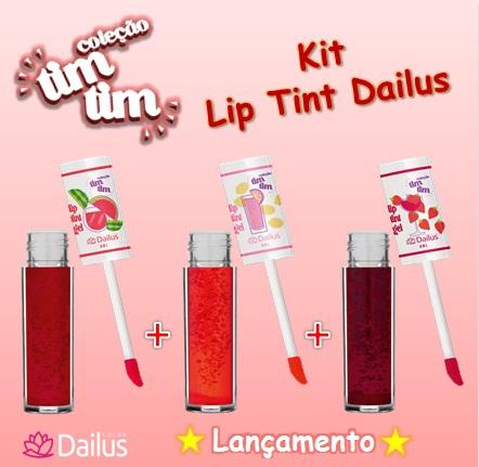 Kit Coleção Tim Tim Lip Tint Dailus 3 Cores