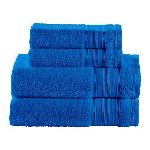 Kit de Toalhas 4 Peças Santista Azul Royal Knut