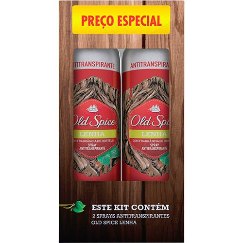 Kit Desodorante Old Spice Lenha 2 Unidades - 150ml Cada