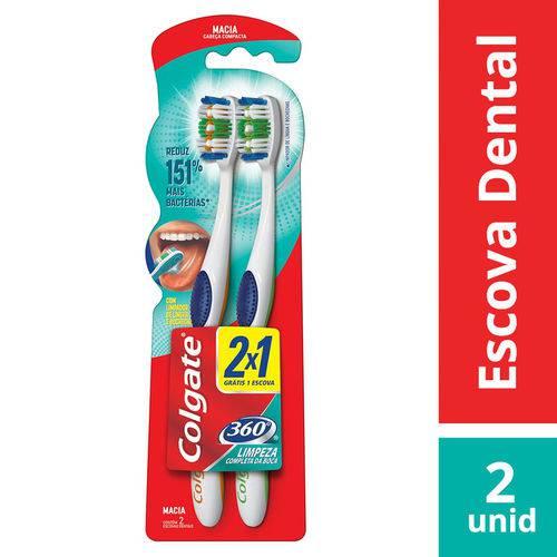 Kit Escova Dental Colgate 360º Macia 2x1