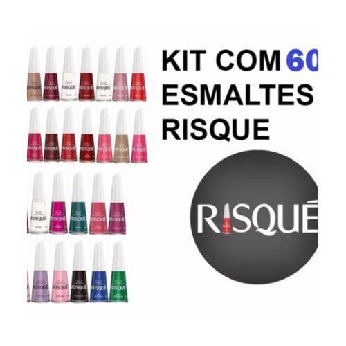 Kit Esmalte Risque 60 Cores
