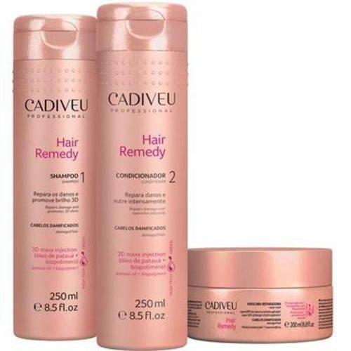 Kit Hair Remedy - Shampoo + Condicionador + Máscara