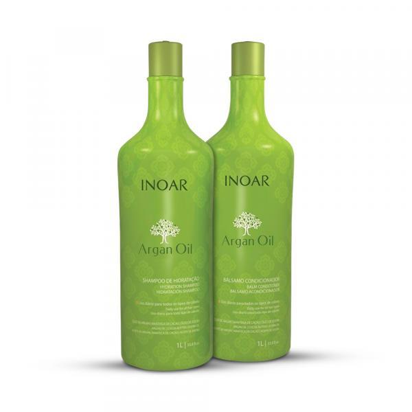Kit Inoar Óleo de Argan Shampoo+Condicionador Hidratante - Inoar