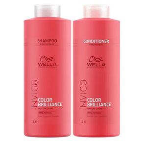 Kit Invigo Color Brilliance Tamanho Profissional Wella - Shampoo + Condicionador Kit