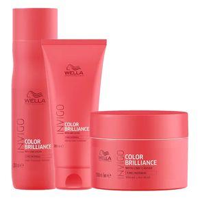 Kit Invigo Color Brilliance Wella - Shampooo + Condicionador + Máscara Kit