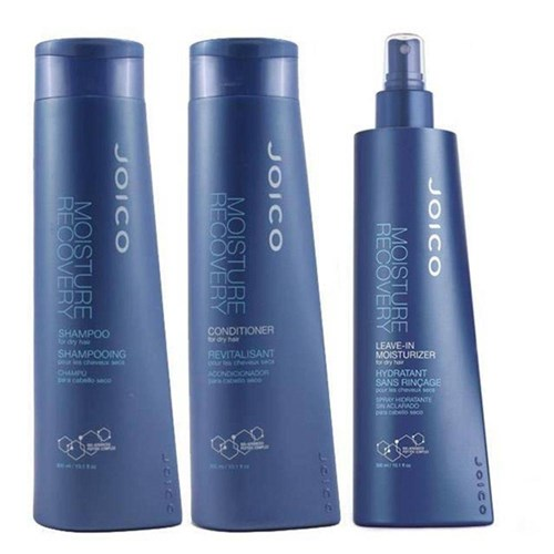 Kit Joico Moisture Recovery Shampoo 300ml + Condicionador 300ml + Leave-In 300ml