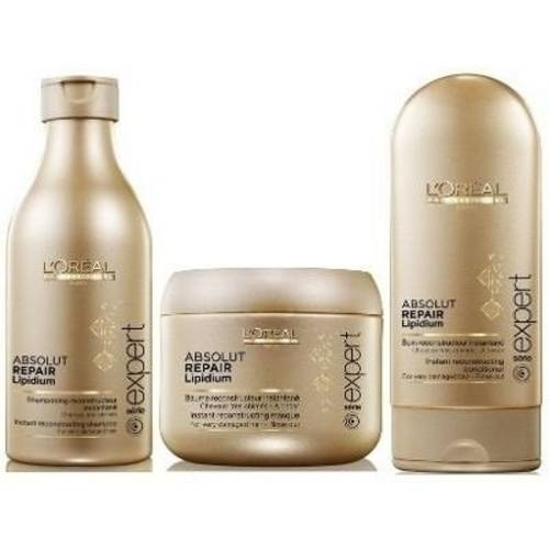 Kit Loreal Absolut Lipidium Shampoo 250ml+ Condicionador 150ml+ Máscara 200g