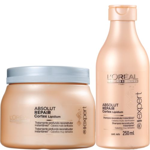 Kit Loreal Professionnel Absolut Repair Lipidium Tratamento (2 Produtos)