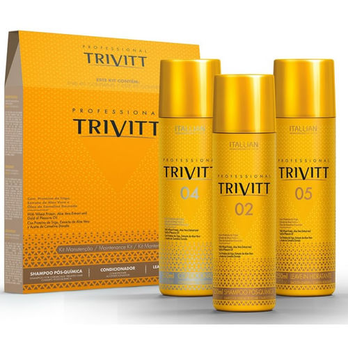 Kit Manutenção Trivitt 3x250ml - Itallian Hairtech