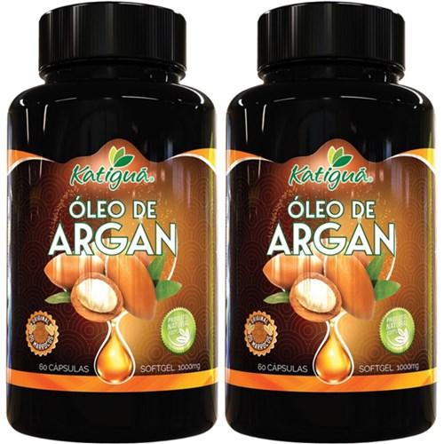 Kit 2 Oleo de Argan 1000Mg 60 Cápsulas Katigua