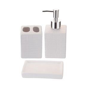 Kit Saboneteira 3 Pecas Banheiro Porta Sabonete Liquido