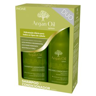 Kit Shampoo + Condicionador Inoar Duo Argan Oil System Kit